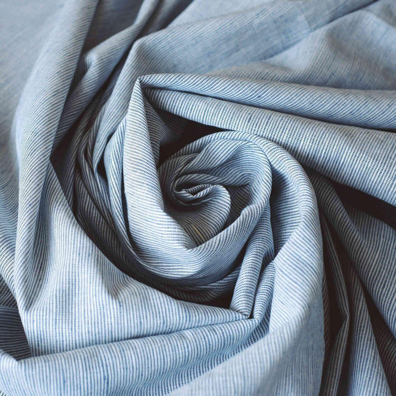 100% Льняная простынь Голубая