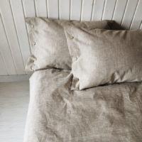 Льняной постельный комплект Капучино - Ткани серого цвета