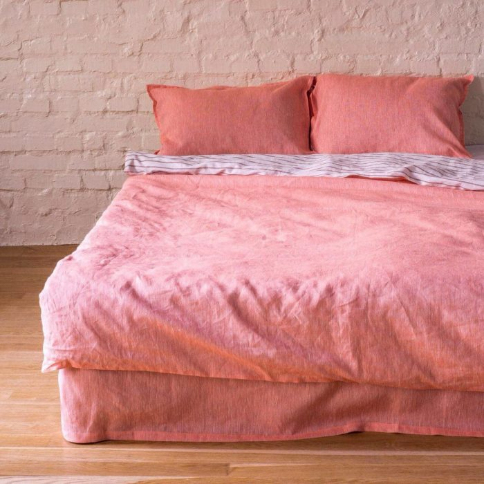 100% льняной постельный комплект Рассвет