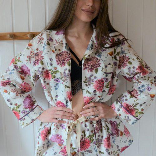 Льняная пижама из умягченного льна Мирильда