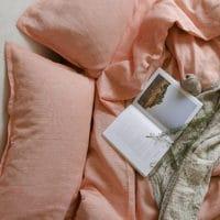Постельное бельё из льна Абрикос 60