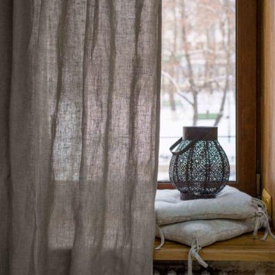 шторы льняные 2-30