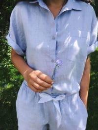 Льняные пижамы с шортами