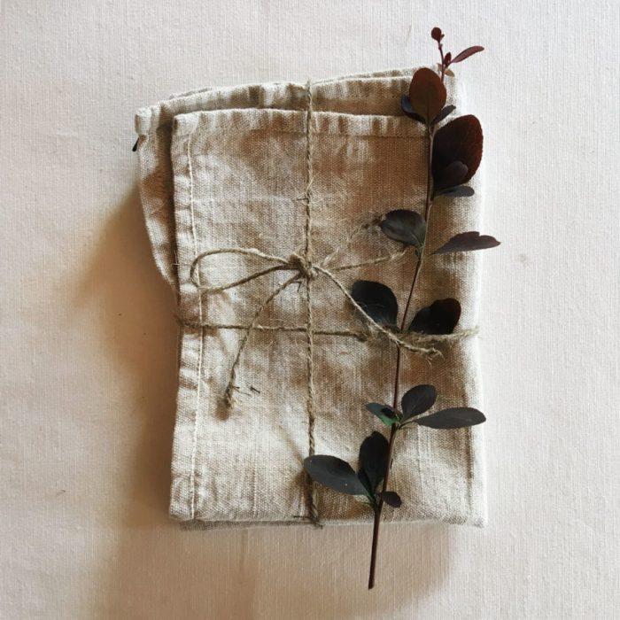 Полотенце льняное кухонное - набор 3 шт