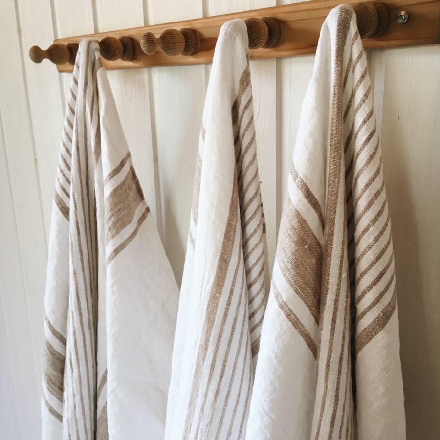 Полотенца льняные умягченные