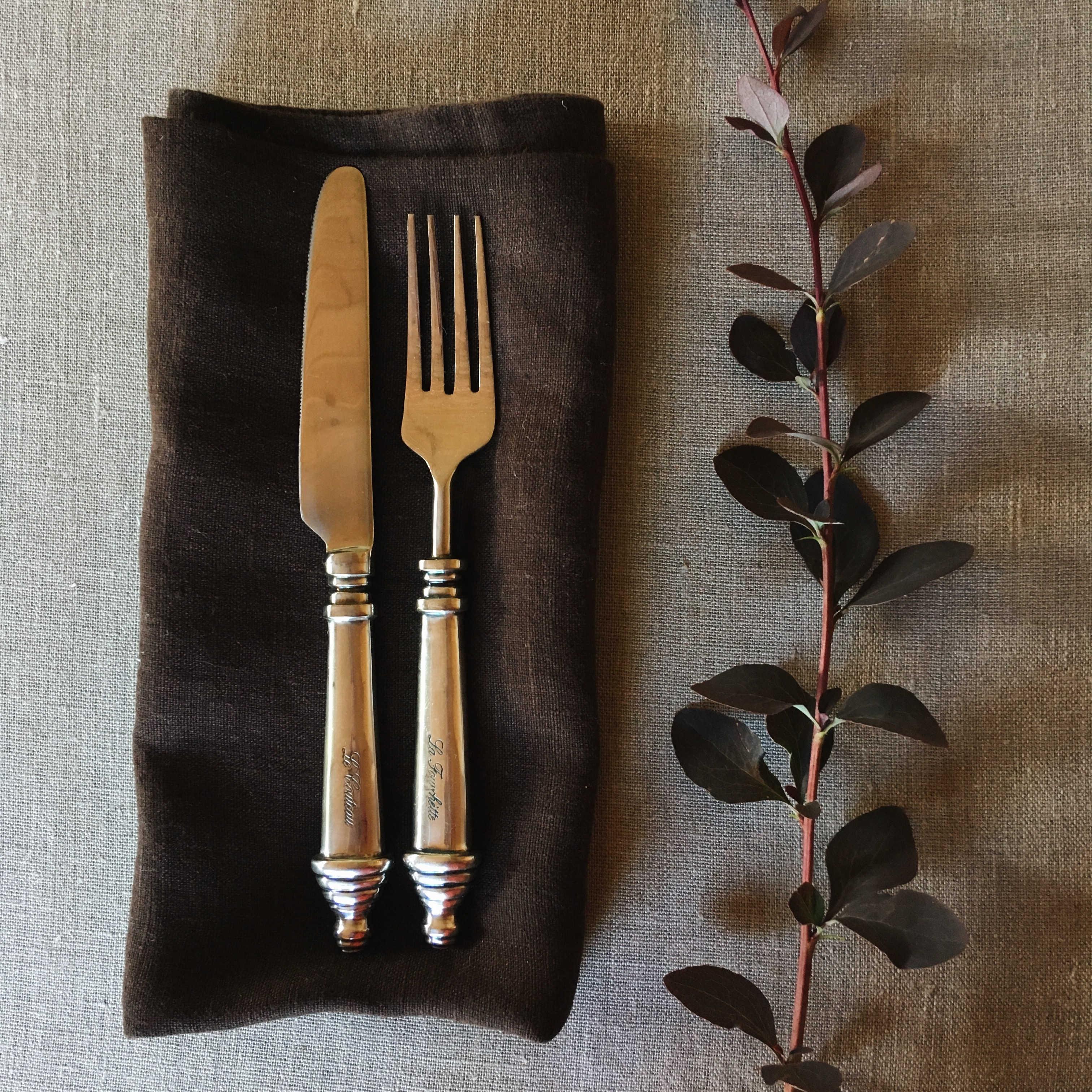 Салфетки льняные умягчённые Шоколад - набор 3 шт