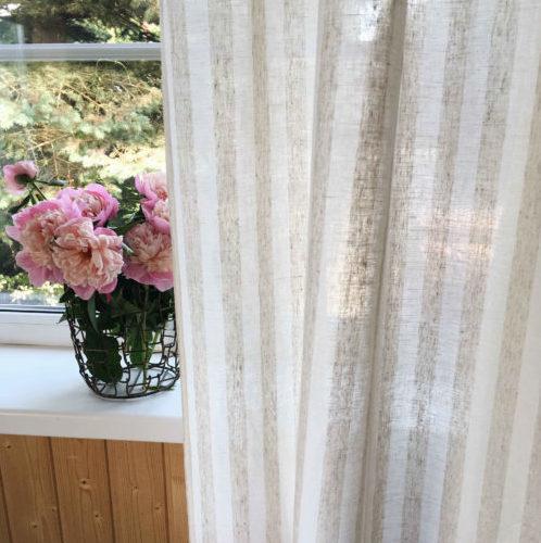 Белорусский лён шторы главная