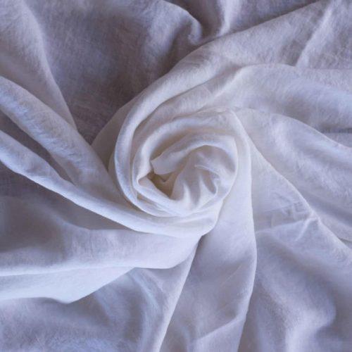 Простыня из мягкого льна Белая 2