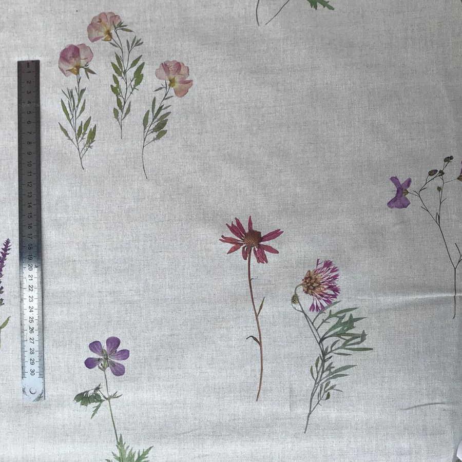Ткань из Льна Цветной Прованс - усадка тканей