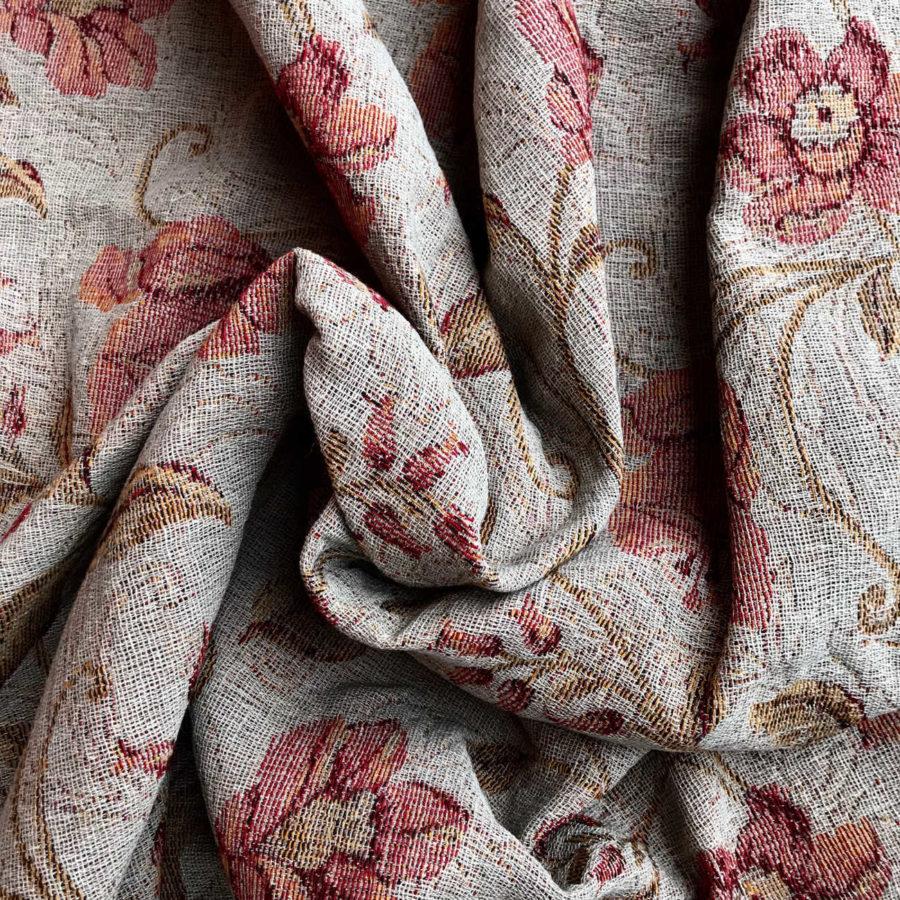 100% Льняная декоративная ткань Энигма