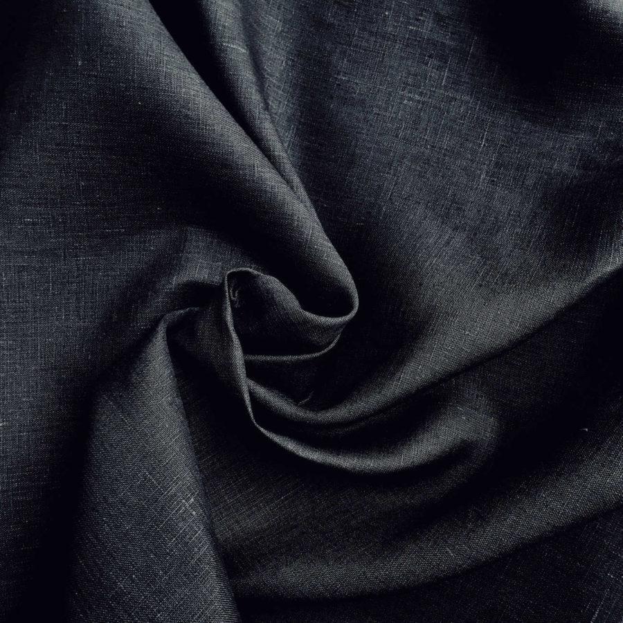 Льняные ткани - 100% Льняная широкая-260 см ткань Графит