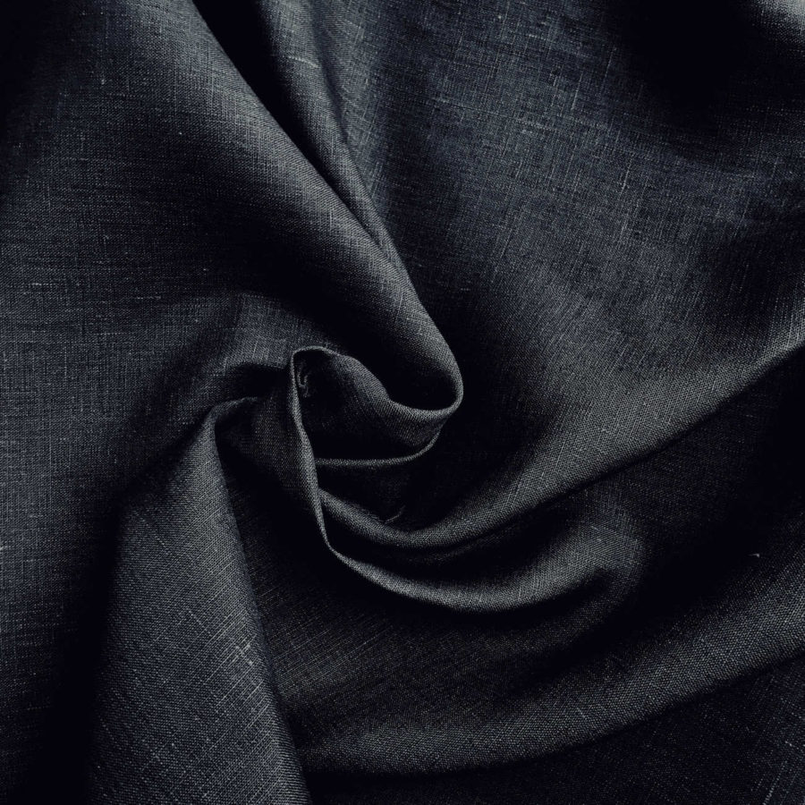 100% Льняная широкая-260 см ткань Графит