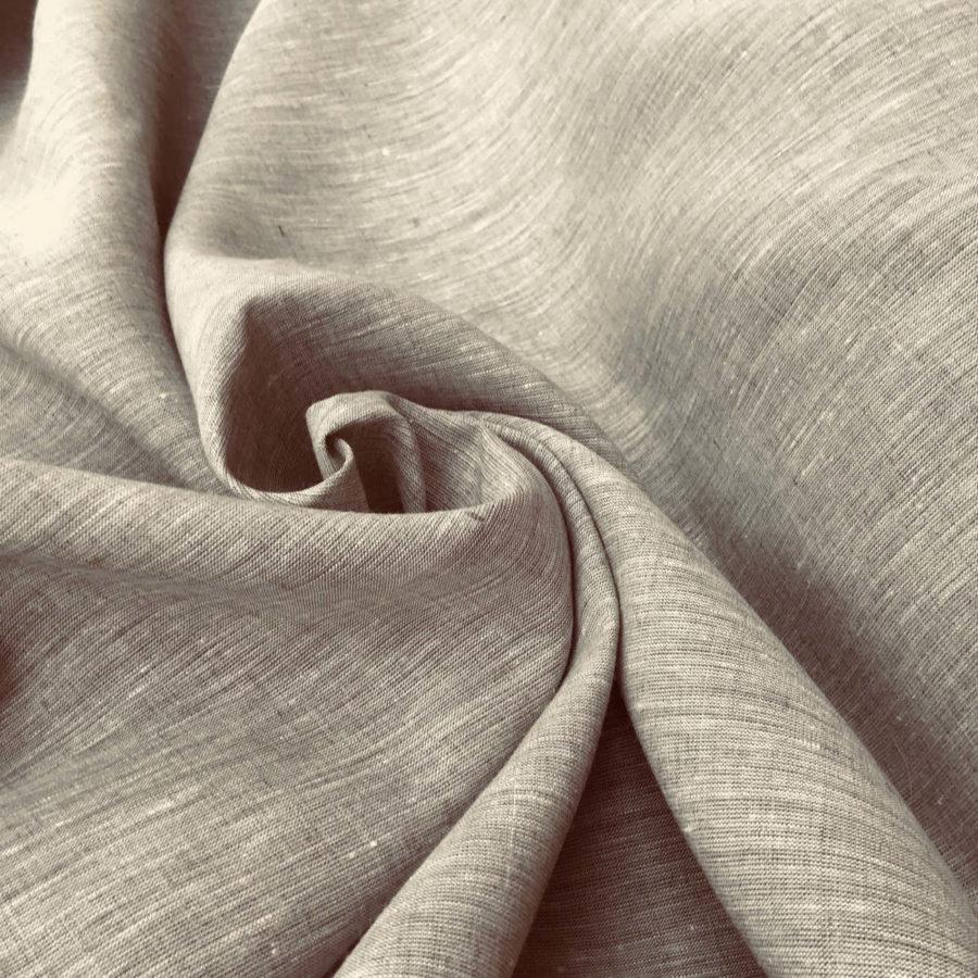 100% Льняная ткань Капучино