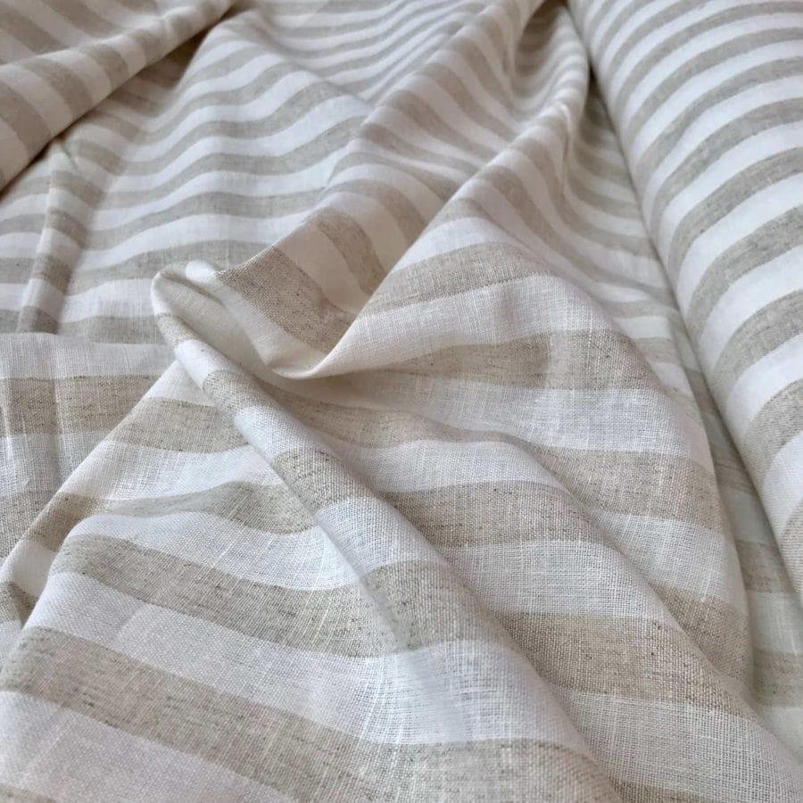 100% Льняная ткань Латте