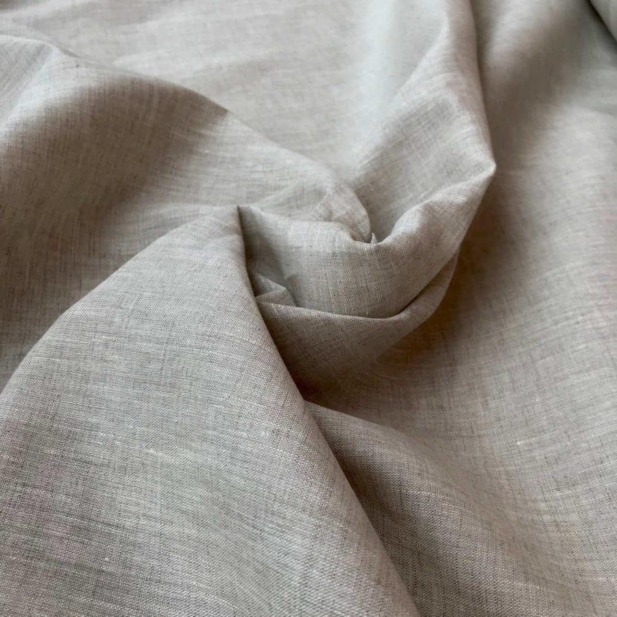 100% Льняная ткань Натурального цвета