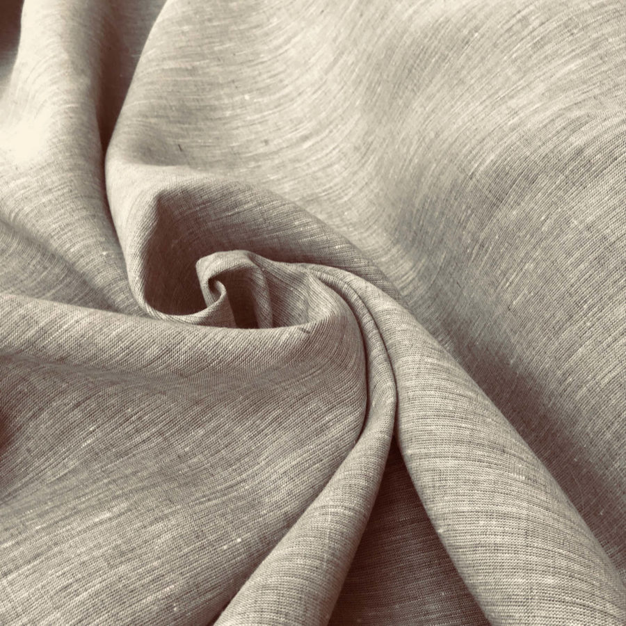 Льняные ткани - 100% Льняная ткань Капучино