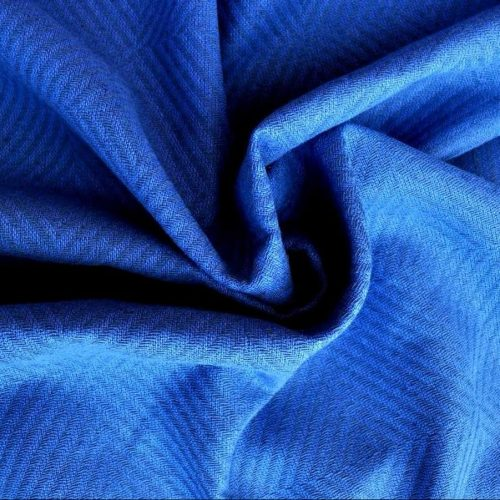 Ткань из льна Голубая Декоративная