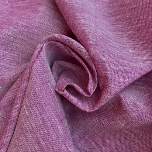 100% Льняная ткань Лиловая