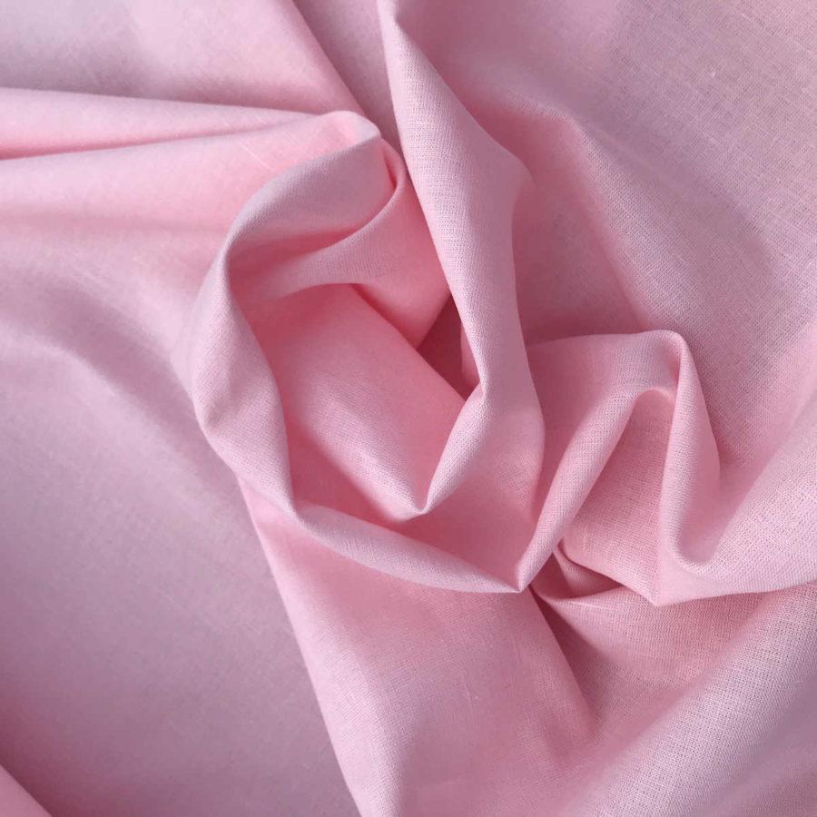 100% Льняная ткань Нежно Розовая