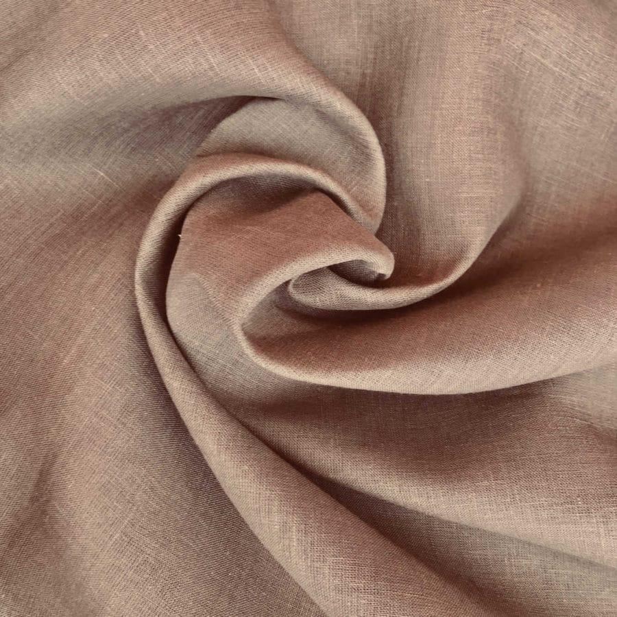 100% Льняная скатертная ткань Орех