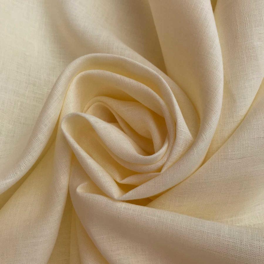 100% Льняная ткань Ваниль