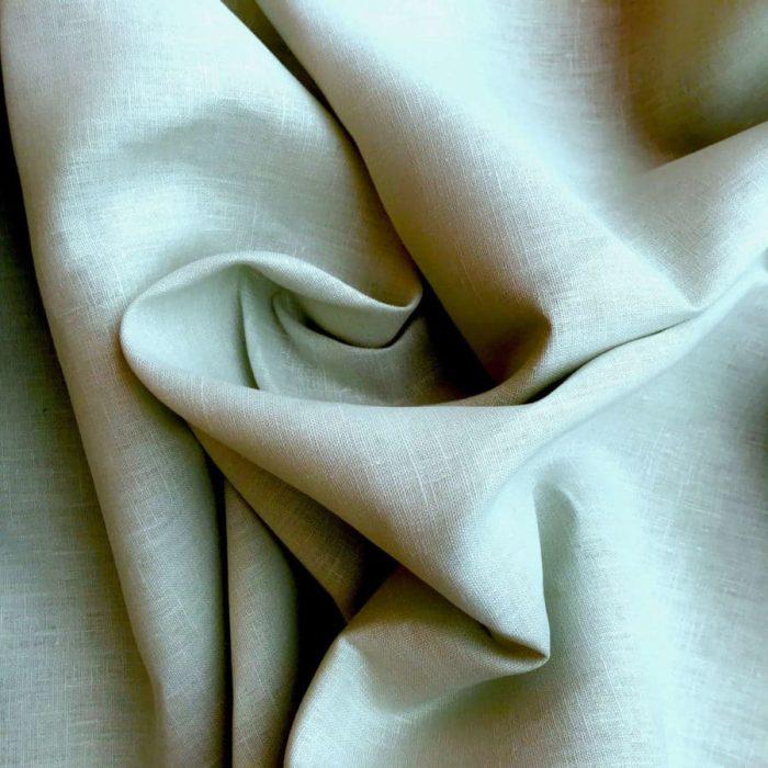 100% Льняная скатертная ткань Мята