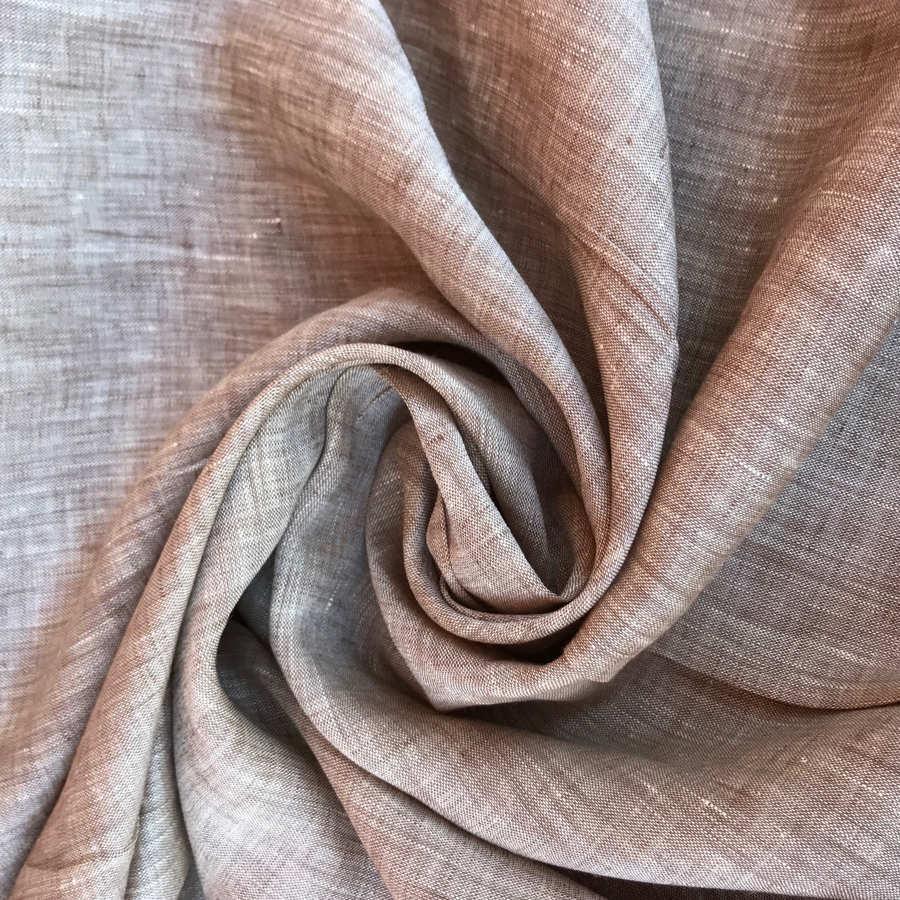 100% Льняная сорочечная ткань Бежевая