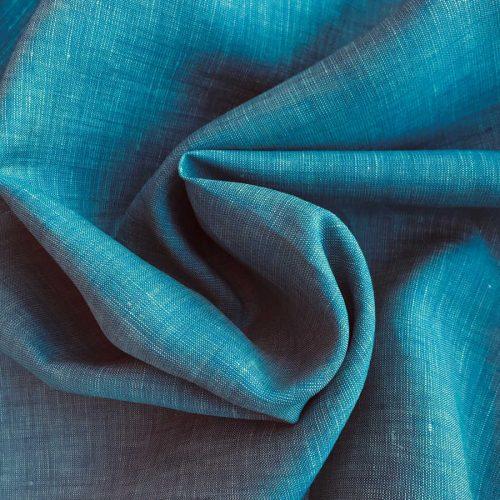 100% Льняная сорочечная ткань Бирюза