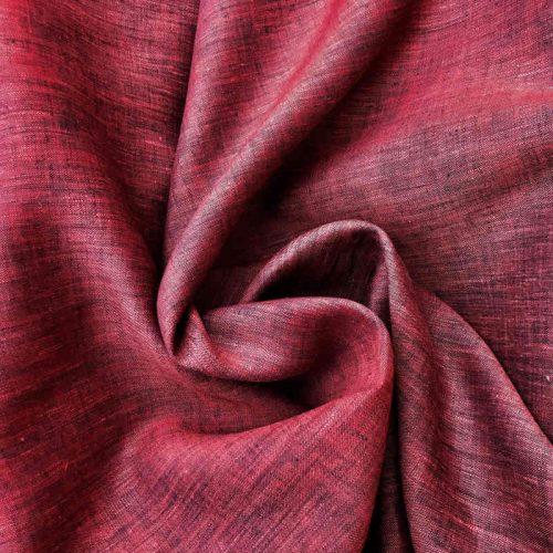 100% Льняная сорочечная ткань Бордо