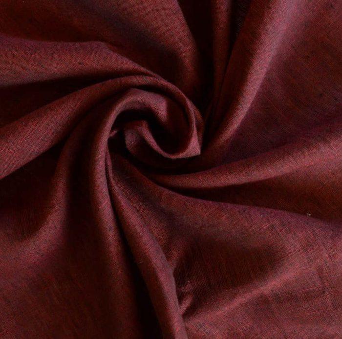 Льняные ткани - 100% Льняная ткань Бордо