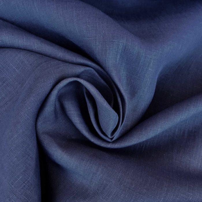 Льняные ткани - 100% Льняная ткань Черника