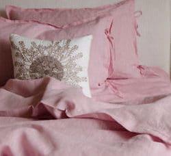 Постельное льняное бельё Розовое - фото отзыва на товар из интернет-магазина ЛЬНЯНОЕ