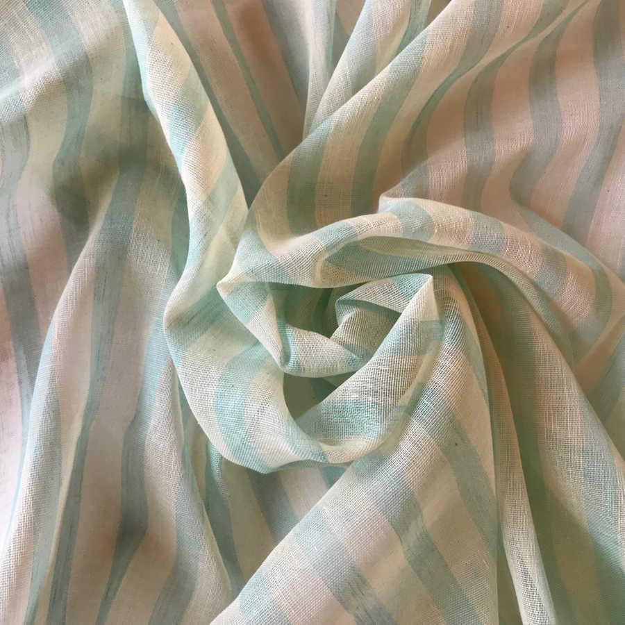 Ткань для тюля из льна Бирюза 1