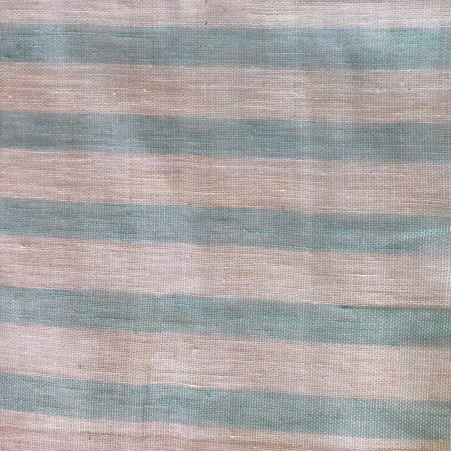 Ткань для тюля из льна Бирюза 2
