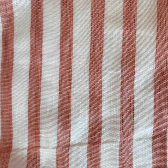 Ткань для тюля из льна - Коралл 2
