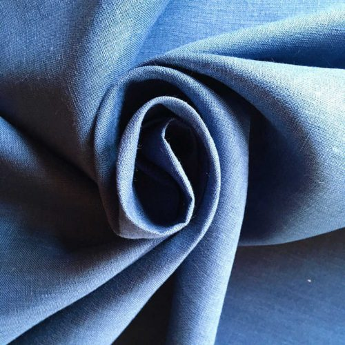 Льняные ткани - Ткань льняная тёмно-синяя