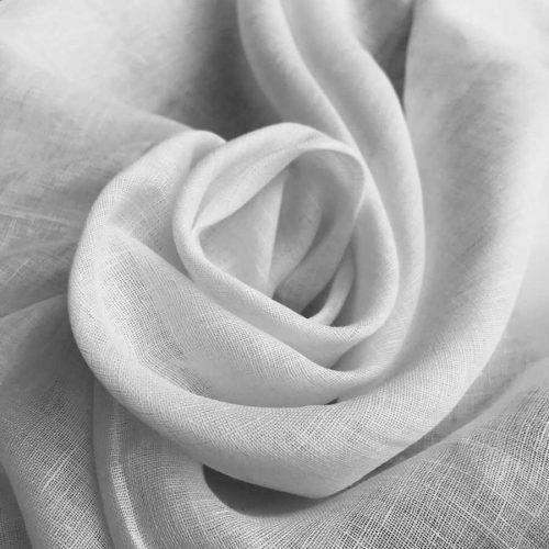 Льняная вуаль белая 150 см