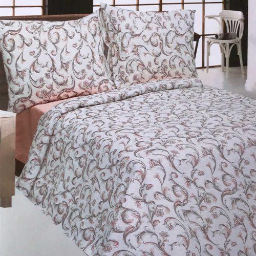 Льняной постельный комплект Перья - Орша