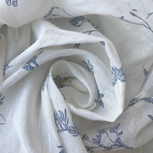 Льняная тюлевая ткань Прованс