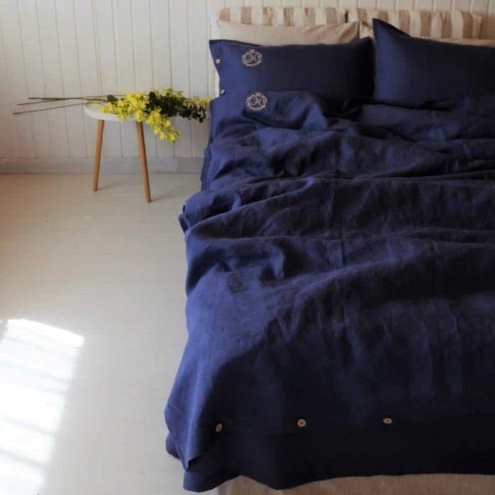 Постельное бельё из льна с вышивкой-интернет магазин ЛЬНЯНОЕ-Москва
