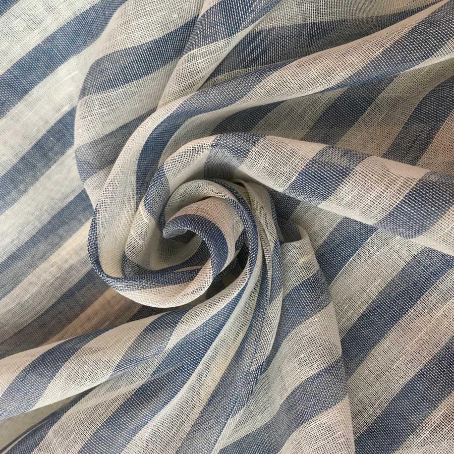 Ткань для тюля из льна Морской Бриз