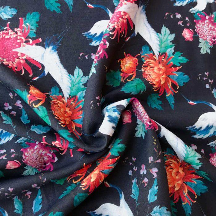 Льняные ткани для пижам- 100% Льняная умягченная ткань Белый Аист 2