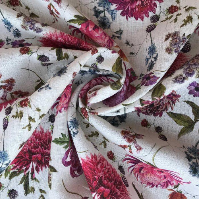 Льняные ткани - 100% Льняная умягченная ткань Мирильда