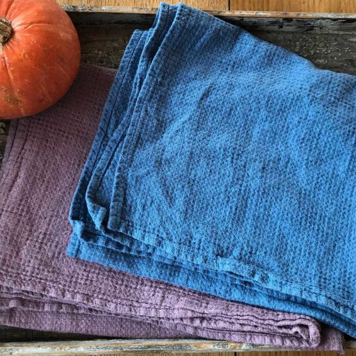 Кухонное полотенце тонкое из умягченного льна Фото 3