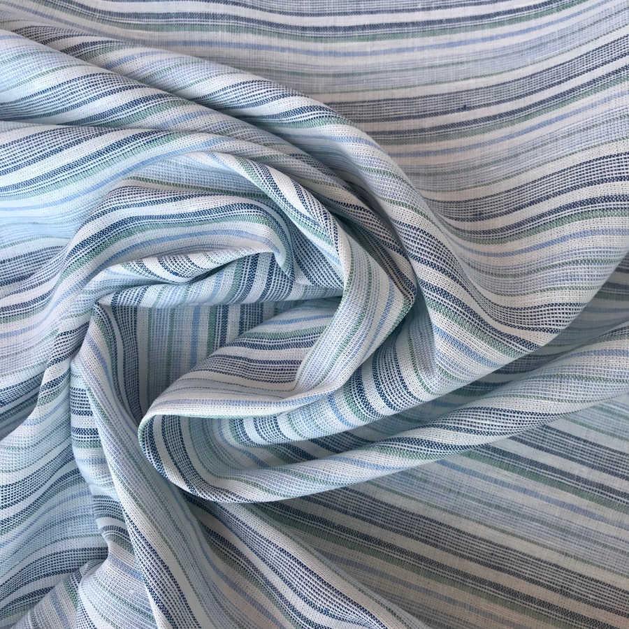 Льняная ткань Мятный Микст