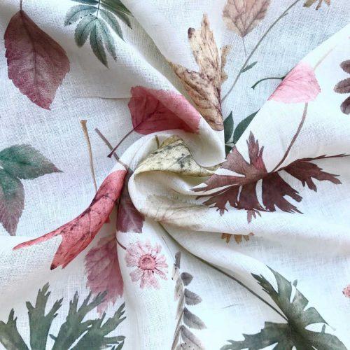 Льняная ткань Осень 2