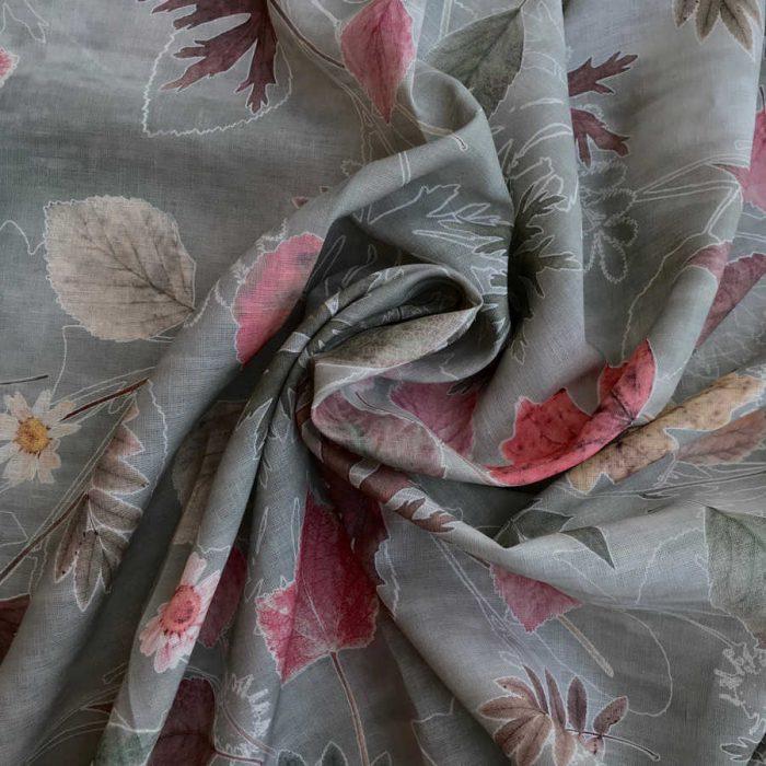 Льняная ткань Осень-Вечер