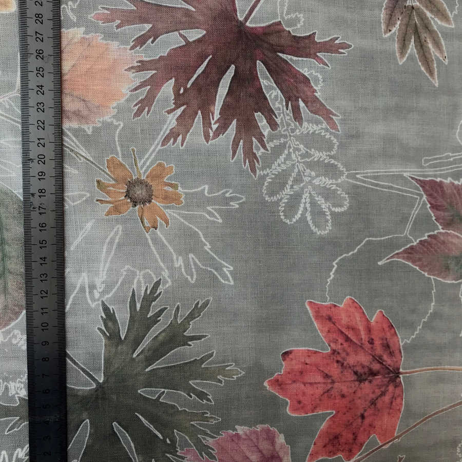 Льняная ткань Осень-Вечер 2