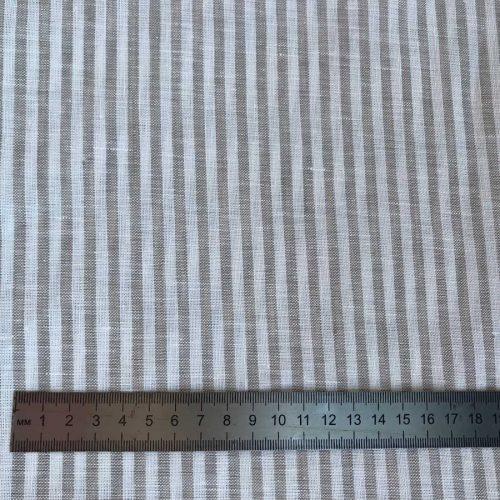 Льняная ткань в полоску 07-07 2