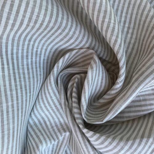 Льняная ткань в полоску 07-07